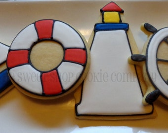 Nautical Themed cookies 2 dozen