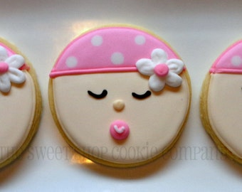 Girlie Baby Face cookies 2 dozen