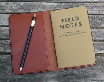 Leather Field Notes Cover, field notes wallet, field notes inserts, field notes leather, leather journal, garny