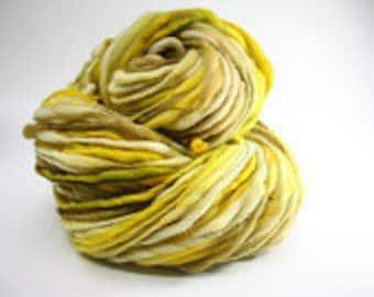 Thick and Thin Merino Handspun Wool Slub Yarn tts(tm) Hand dyed xlr Pollucite 02 *Reduced 2nd Shipping*