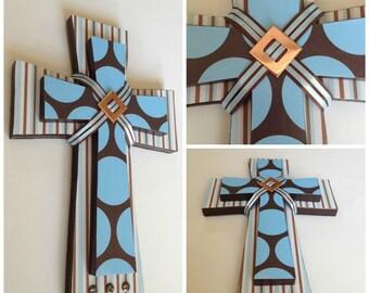 Custom Layered Wooden Hanging Cross