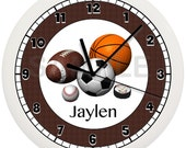 Personalized SPORTS WALL CLOCK