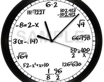 Math Chalkboard Wall Clock