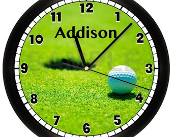 Golf WALL CLOCK Custom