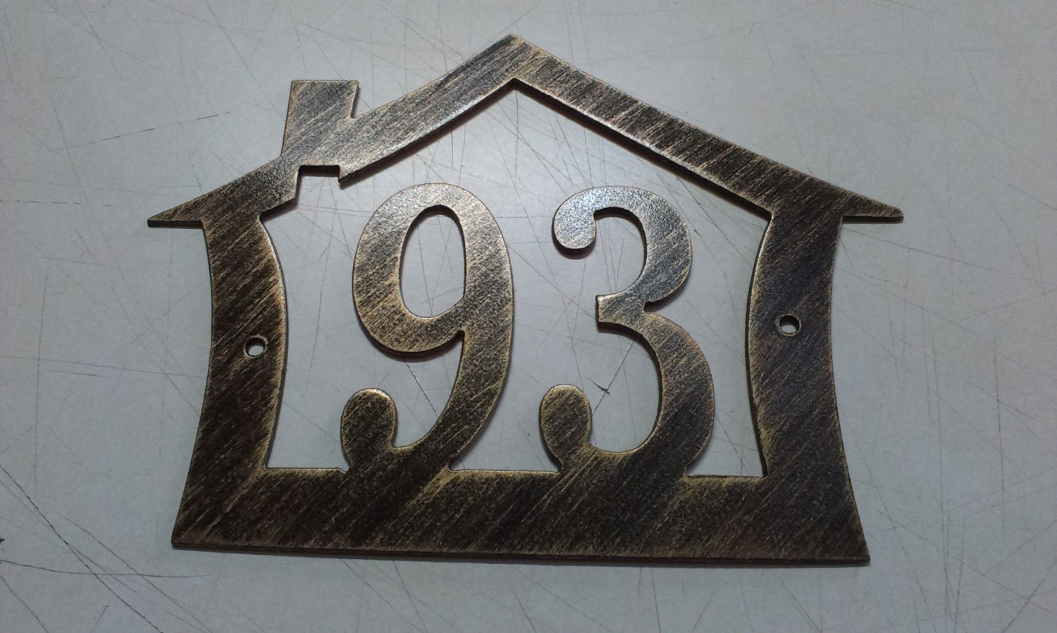 Wall Decor Metal Numbers : House number address sign design wall decor metal art