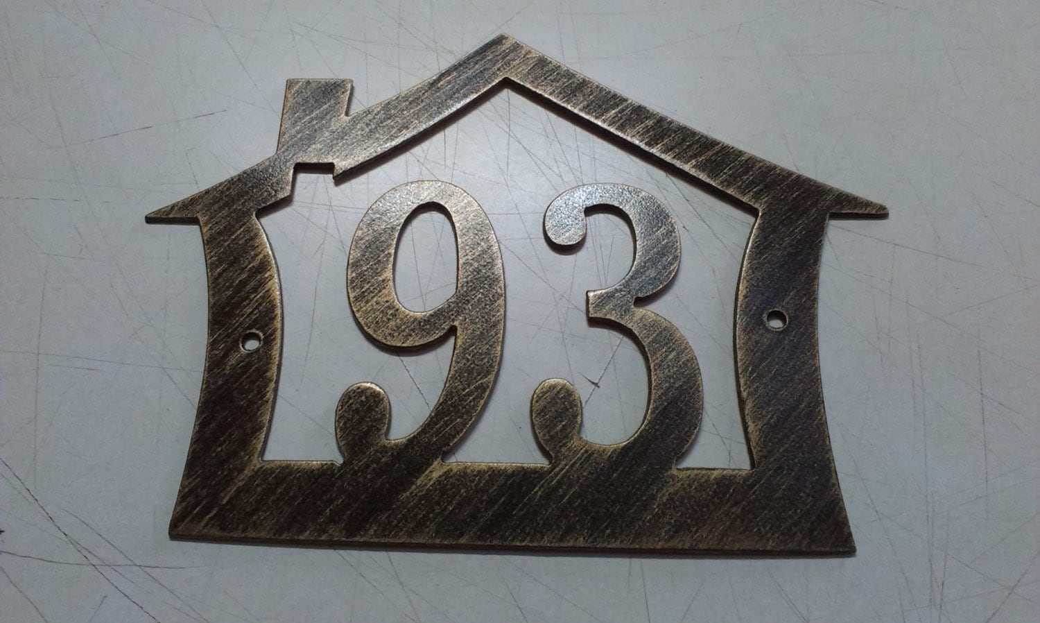 house number address sign house design wall decor metal art. Black Bedroom Furniture Sets. Home Design Ideas