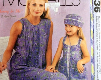 McCalls 2136  Mommy and Me Dress, Hat and Purse