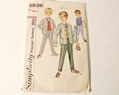Simplicity Pattern Patterns Sewing 1960's Boy's Jacket Vest Pants  Size 4