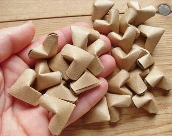Large Size, Upcycled Kraft Paper Origami Hearts, set of 24.
