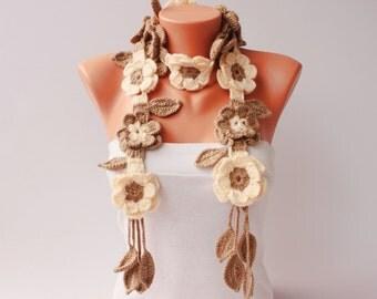 Crochet scarf  , scarf ,woman scarf, gift