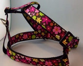 Floral Step in Dog Harness