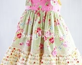 LAST ONE, Sale 12mo Sophie Knot Dress....Dress for Toddler Girls