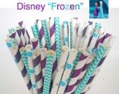 "Paper Straws Disney's ""FROZEN"" Party Mix Princess Anna Paper Drinking Straws Cake Pop Sticks Mason Jar Paper Straws Wedding, Birthdays"