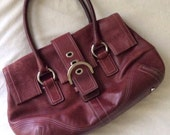 Vintage Coach Black Cherry Leather Purse
