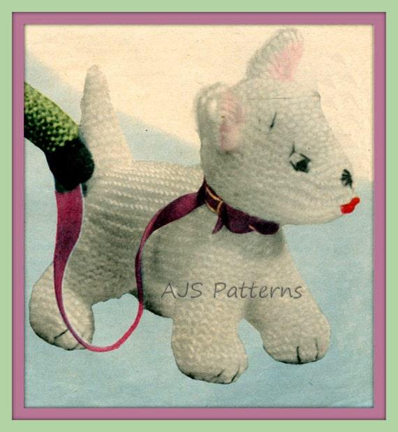 Knitting Pattern Westie Dog : PDF Knitting Pattern for Westie Dog Soft Toy Instant