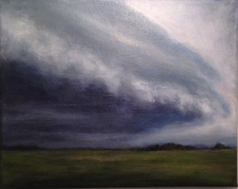 Clouds Landscape Painting 8 by 10