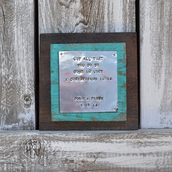 Personalized Wedding Gift Rustic Scripture Bible