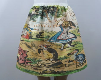Alice in Wonderland book cover skirt - made to order