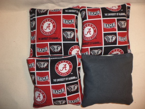 Cornhole Bags Alabama Crimson Tide Bama Corn Hole Bean Bags 4