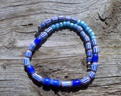 Chevrons beaded necklace 21 inch