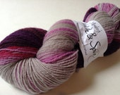"Handspun Yarn, ""snowflower"" gradient, 6.1 oz, 458 yds"