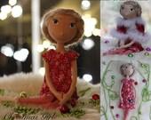 Cloth Doll Making Sewing Kit PATTERN TUTORIAL MATERIALS Christmas Girl diy