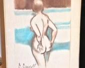 Original Vintage Drawing