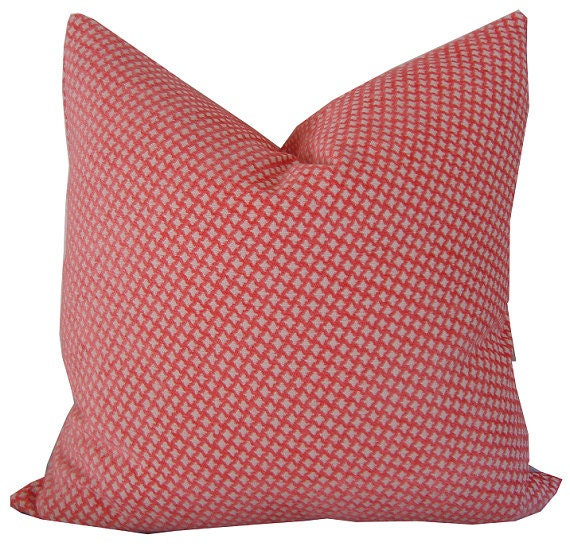 Chenille Pillows Coral Colored Pillow Decorative Pillow
