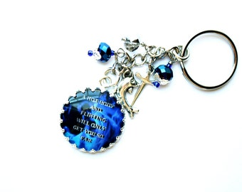 Kate Daniels Series Keychain - Hot Body And Flirting - Book Quote - Urban Fantasy - Swag