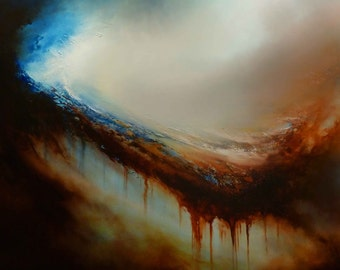 """Large Abstract Oil Painting by Simon Kenny """"Retribution"""""""