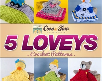 Combo Pack - Choose 5 Loveys / Security Blankets for 19,99 Dollars - PDF Crochet Pattern - Special Offer Pattern Pack