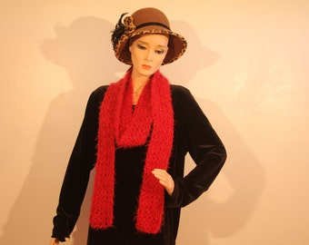 Muted Red Scarves, 3 of various lengths