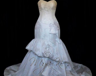 Strapless Taffeta Mermaid Trumpet wedding dress/gown (made to order MKG34)