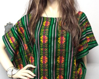 Embroidered Mexican Caftan top Handmade BOHO blouse Festival   S-L