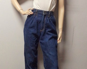 Vintage 70's High Waisted Red Mountain Blue Denim Jeans Waist 25 inches