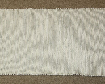 Handwoven Rag Rug - Off White / Cream with some grey flecks Flannel - 44 inches....(#36)