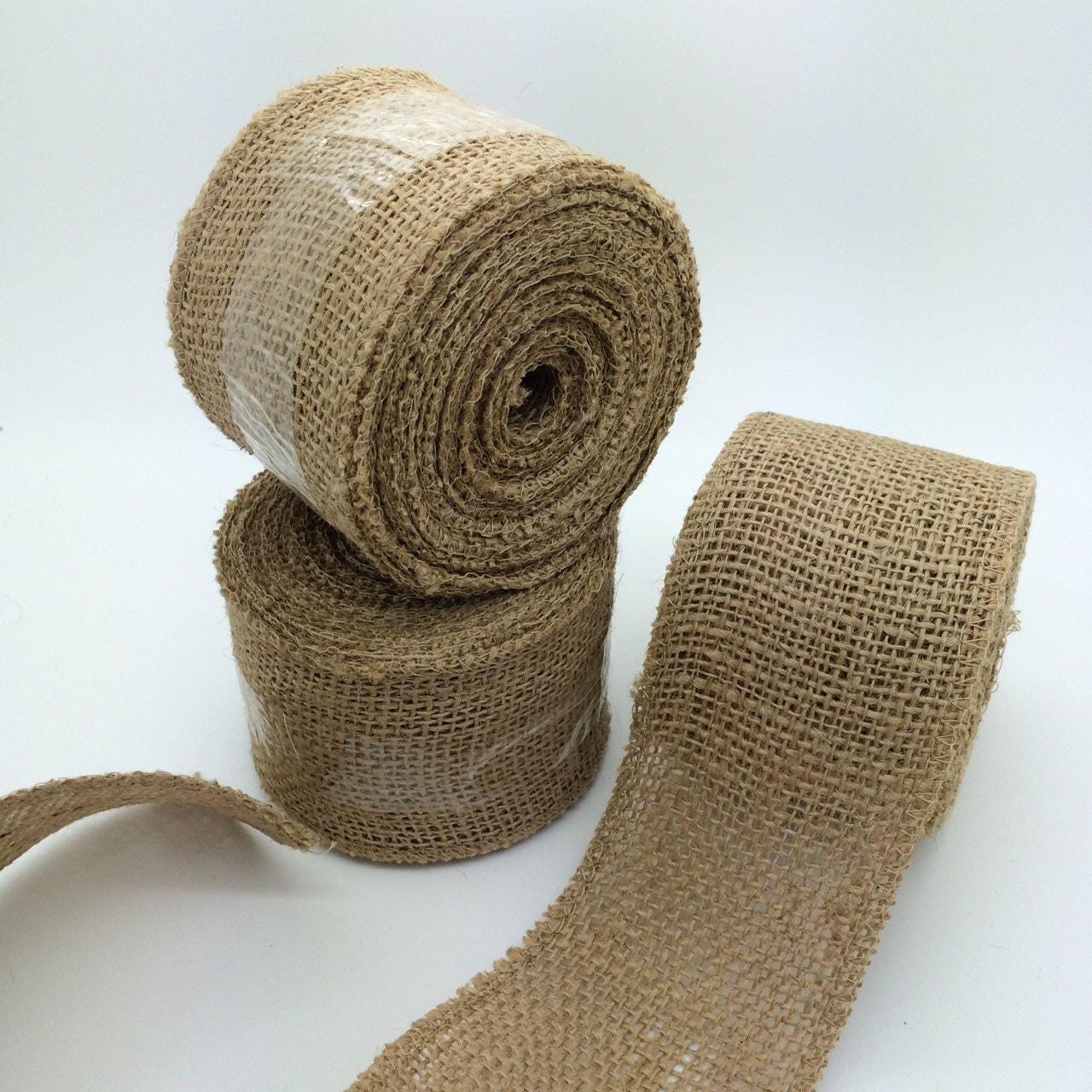 2.5 burlap ribbon Natural burlap jute wide trim 10