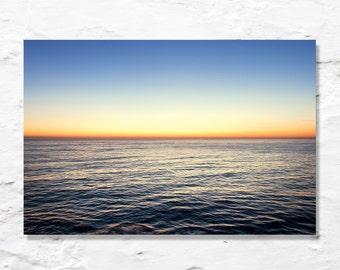 sea sky sunrise ocean photograph fine art photography wall decor nature photo blue yellow