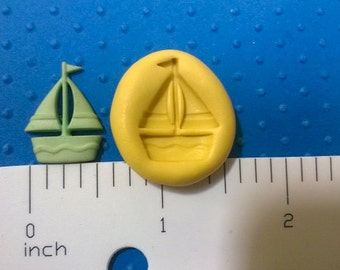 tiny SAILBOAT mold  FLEXIBLE silicone for fondant gumpaste for cake pops or non flexible  polymer clay
