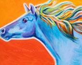 Horse, Pet Portrait, DawgArt, Horse Art, Southwestern Art, Equestrian Art, Pet Portrait Artist, Colorful Pet Portrait, Art, Art Prints
