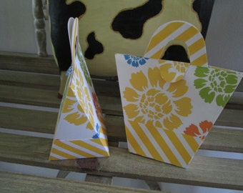 Tropical Beach Bag Favor Boxes Set of 12