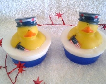 Patriotic Rubber Duck Glycerin Soap