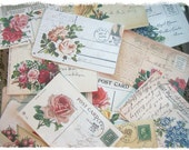 Shabby Roses Mini Post Cards Carte Postale Vintage Ephemera 18 Included