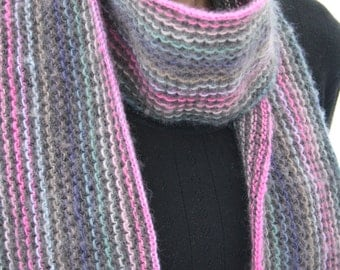 colorful knit scarf pattern