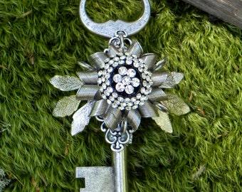 Steampunk Skeleton Key Boutonniere