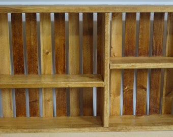 Decorative Wooden Wall Hanging Crate-Golden Oak