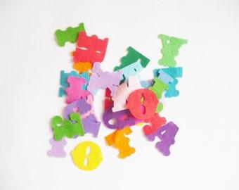 Felt letters Alphabet felt letters Die cut felt letters pre cut felt shapes
