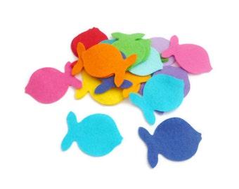 Felt fish shapes die cut felt shapes Arts and crafts felt animals