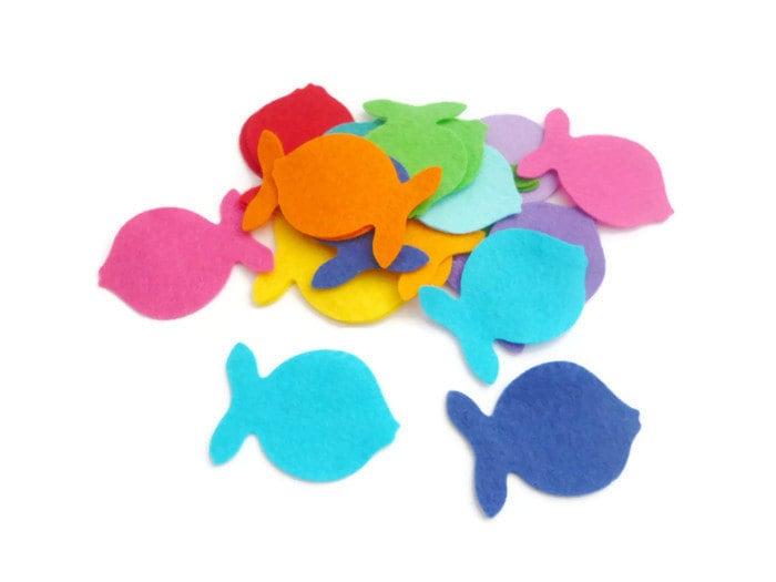 Felt Fish Shapes Die Cut Felt Shapes Arts And Crafts Felt