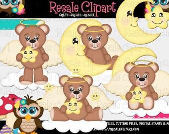 Lil Angel Bears 2 Clipart (Digital Download)